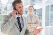 Businessman having phone conversation