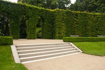 escaliers jardin du musée Rodin à Paris