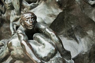 détail porte sculptée musée Rodin à Paris