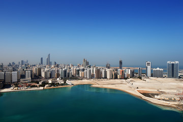 A skyline view of Abu Dhabi, UAE's capital city