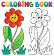Coloring book with flower theme 3