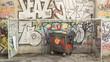 Graffitti garbage