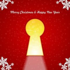 keyhole merry christmas