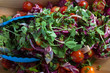Colourful spring salad