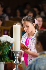 reads the prayer