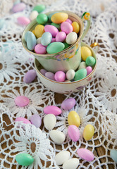 Jordan Almond Candies in cup