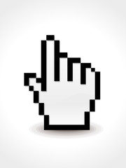abstract glossy hand cursor