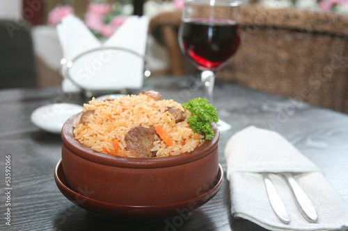 pilau with meat