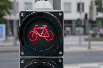 Red light for bicycle