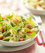 pasta salad with asparagus and tomato