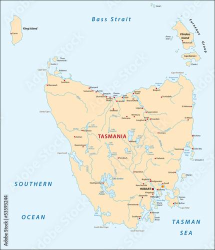 Tasmania map