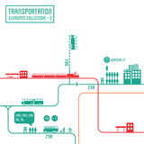 Transportation infographics - graphic elements set 2