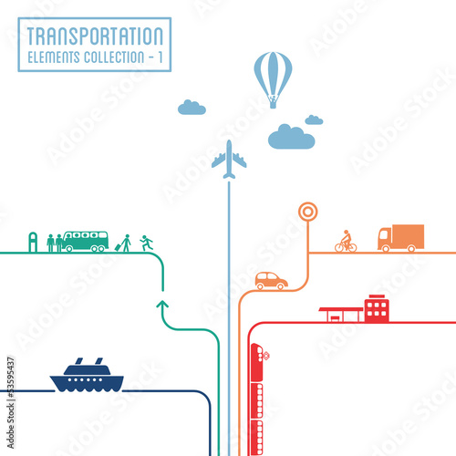 Transportation infographics - graphic elements set 1