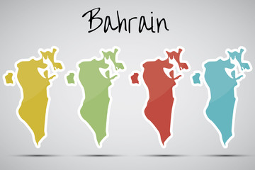 stickers in form of Bahrain
