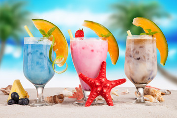 Summer cocktail on beach