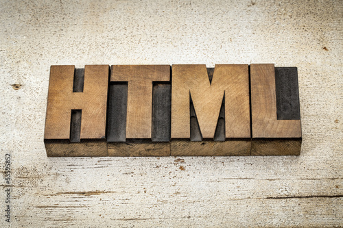 html acronym in wood type