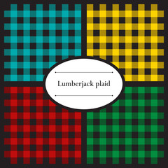 Set of lumberjack plaid patterns