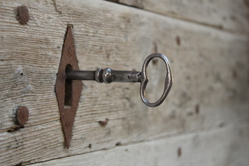 serrure et clé ancienne
