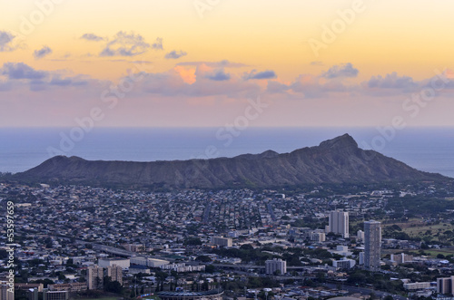 View of Diamond Head in Hawaii