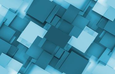 3D Squares Background © kentoh