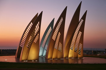 Monument Sails in Ashdod. Israel
