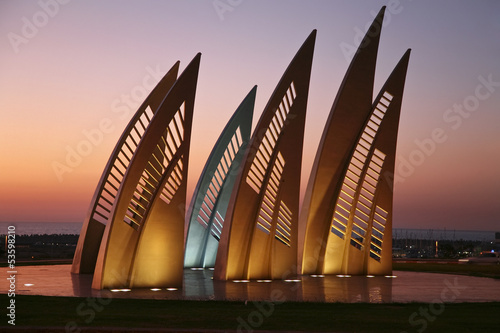 Monument Sails in Ashdod. Israel - 53598210