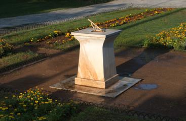 Sundial in National Garden of Athens. Greece.
