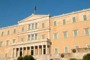 The Greek parliament, Athens