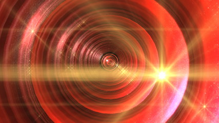 abstract red eye tunnel