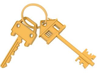 Связка ключей от дома и автомобиля