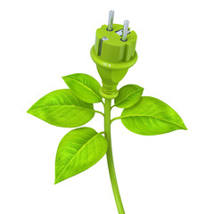 Green power plug - plant