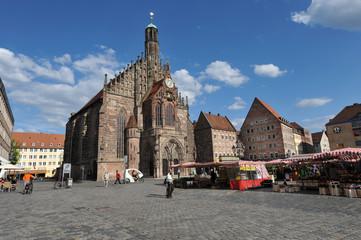 Frauenkirche, Westfassade, Hauptmarkt, Bayern, Nürnberg