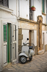 Alleyway. Ceglie Messapica. Puglia. Italy.