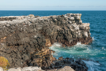 Volcanic cliffs of the Galapagos Islands