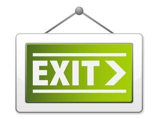 Exit hanging