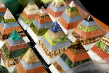 Colorful pyramids