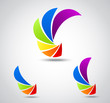 Set logo business . colorful shutter
