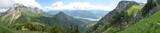 Fototapety Tournette , chalet de l'Aulp, lac d'Annecy et Lanfonnet