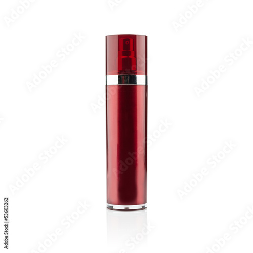 Red cosmetic can