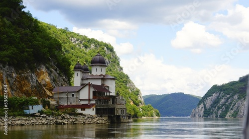 Romanian church on Danube river