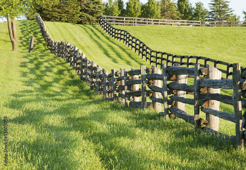 old wooden fence in the country