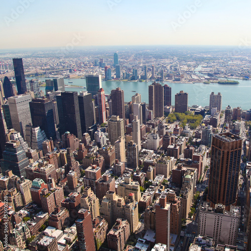 Skyline of Manhattan, NYC - square image