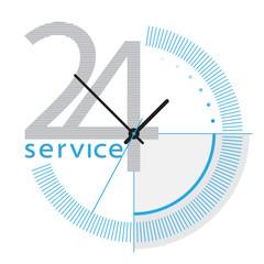 service rund um die uhr