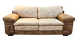 brown sofa isolated with clipping path