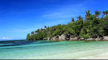 Tropical beach with turquoise sea, Philippines, Boracay