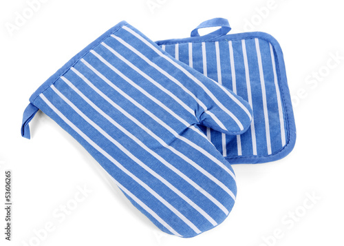 Potholder blue isolated on white