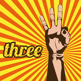 Fototapety three number