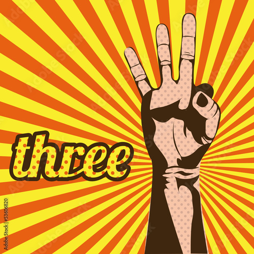 three number