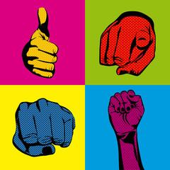 signal hands