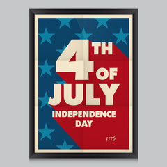 Happy independence day poster, 4 th of July